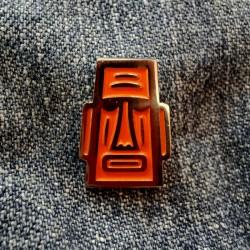 Pin Moai Naranja - Modelo 1