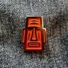 Pin Moai Naranja - Modelo 2