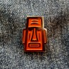 Pin Moai Orange - Model 2