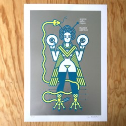 Sonido Gallo Negro Ishtar - Silk-screen print