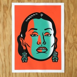 Yma Sumac - Silk-screen print