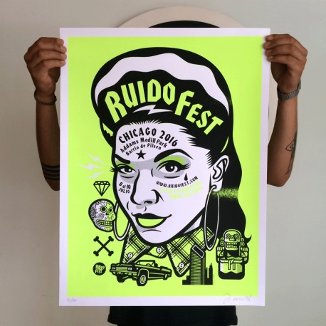 Ruido Fest - Silk-screen print
