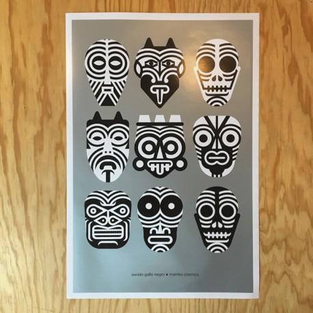 Sonido Gallo Negro - Mambo Cósmico 2019 - Offset poster