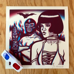 "Lost Acapulco ""Relampagore"" 3D  - Silk-screen print"