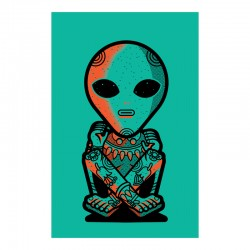 Alien Xochipili - Silk-screen print