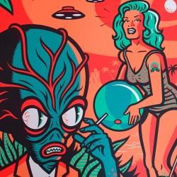 Tiki Tonic on Mars - Serigrafia