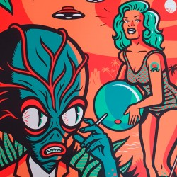 Tiki Tonic on Mars- serigraphy