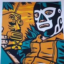 Acapulco Tiki - serigraphy