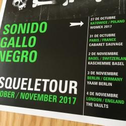Sonido Gallo Negro - Esqueletour 2017 - Offset poster
