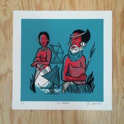 Binder Tikea - Silk-screen print