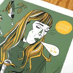 Molly Lewis La Silvadora - Screen print